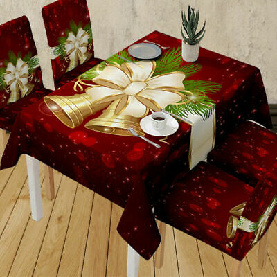 AU21.59 • Buy Christmas Tablecloth Dining Table Cloth Cover Xmas Dinner Party Kitchen Decor