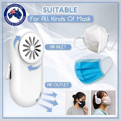 AU15.56 • Buy Fan For Face Mask Cooling USB Portable Wearable Air Purifier Mask