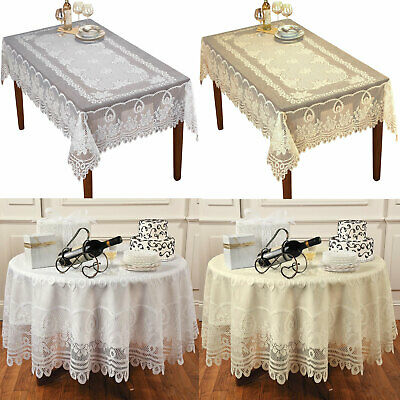 AU22.49 • Buy Vintage Lace Floral Tablecloth Dining Table Cloth Cover Wedding Party Home Decor