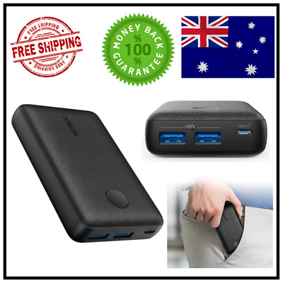 AU51.99 • Buy ANKER POWER BANK POWERCORE SELECT 10000MAH SHOCK RESISTANT 12W With POWER IQ