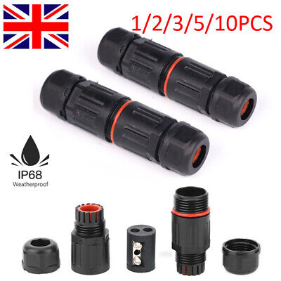 £3.48 • Buy 1-10PC 2 Pole Core Joint Outdoor IP68 Waterproof Electrical Cable Wire Connector