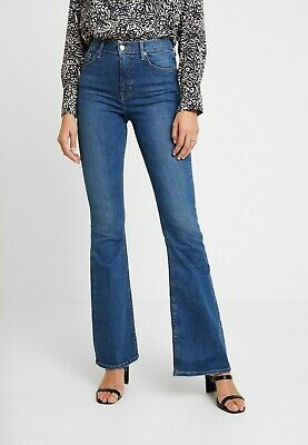 £19.99 • Buy Topshop Mid Blue JAMIE Stretch Flared Skinny Jeans UK8 W26 L30 RRP £49 70s 80s