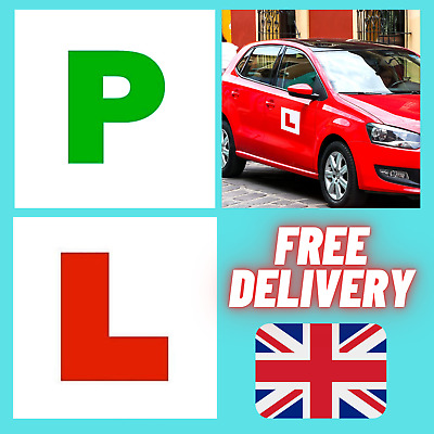 £2.91 • Buy 🔥4x Car Magnetic L & P Plates Learner New Driver Passed Sticker Safe Sign Pack