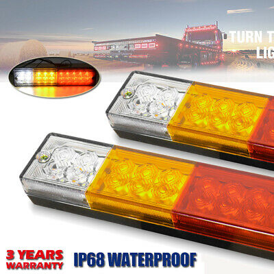 AU23.99 • Buy 2X Submersible Trailer Tail Lights 16 LED Stop Tail Lights Kit Boat Truck Lamp
