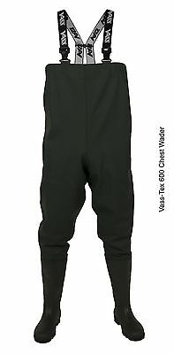 £58.95 • Buy Vass Tex NEW 600 Series PVC Chest Fishing Waders - All Sizes