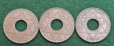 £4.99 • Buy Coins ~ British West Africa ~ 1934 1935 1936 ~ One Tenth Of A Penny  1/10TH