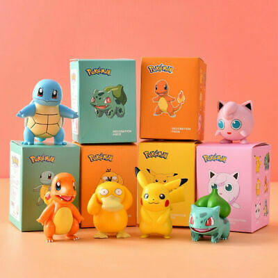 AU14.69 • Buy Genuine Kids Gift Pokemon Pikachu Monster Collectible Action Figures Doll 1/6pcs