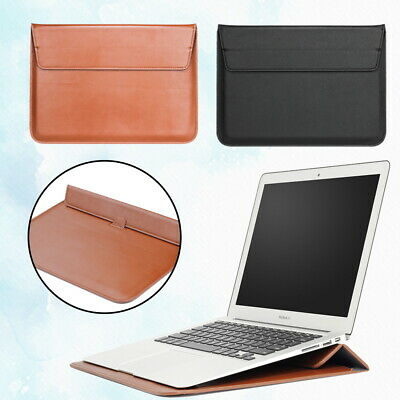 £8.49 • Buy Leather Laptop Carry Pouch Sleeve Case Stand Bag For Apple IPad/Macbook Air Pro
