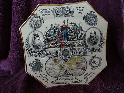 £24.95 • Buy Antique Queen Victoria 1887 Jubilee Plate - Imports & Exports