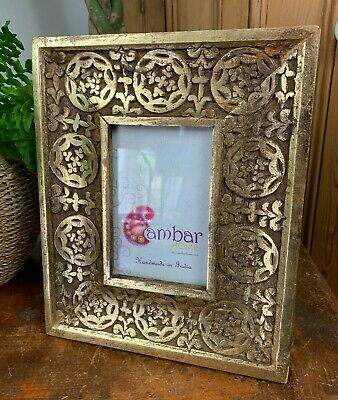 £19.99 • Buy Vintage Baroque Rococo Style Fancy Ornate Gold Carved Photo Picture Frame Decor