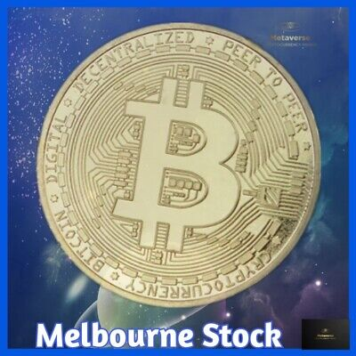 AU5.95 • Buy Bitcoin Collectible Commemorative Coin BTC Gold Plated 1 Ounce Collection 2021