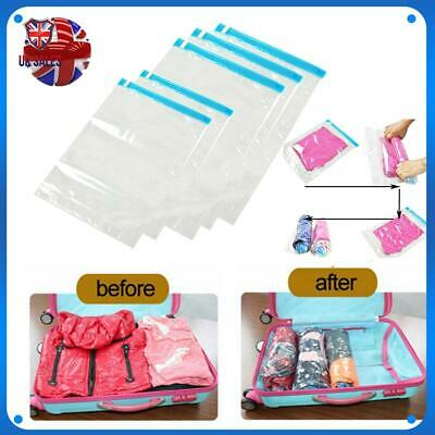 £7.97 • Buy 5× Roll Up Compression Vacuum Storage Bags Travel Outdoor Luggage Space Save Bag
