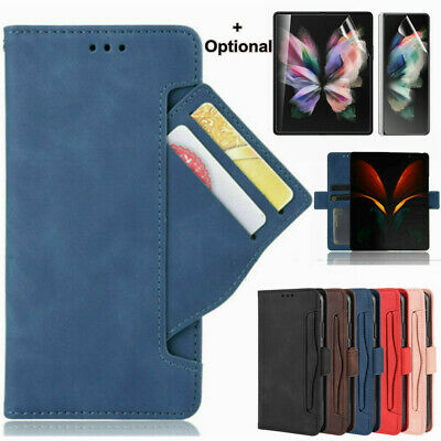 AU21.47 • Buy For Samsung Galaxy Z Fold 3 2 5G Magnetic Flip Removable Card Wallet Case Cover