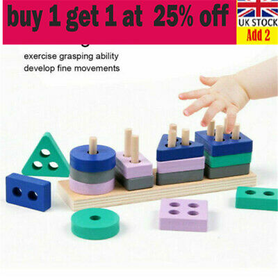 £4.68 • Buy Wooden Toys For 1 2 3 4 5 Years Lead-free Old Boys Girls Toddler Educational TU