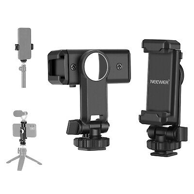 AU19.99 • Buy Neewer Phone Tripod Mount Adapter 360 Degree Rotatable Phone Holder With Mirror