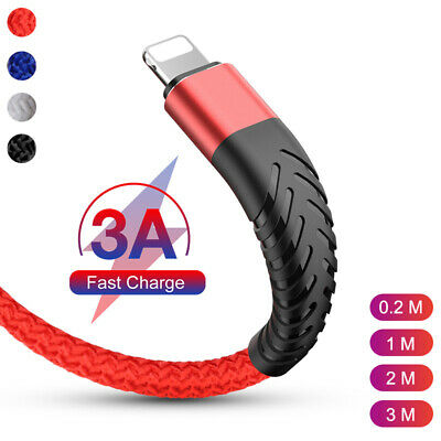 AU9.69 • Buy 1M 2M 3M Fast Charge USB Charger Cord & Data Sync Cable For Apple IPhone IPad AU