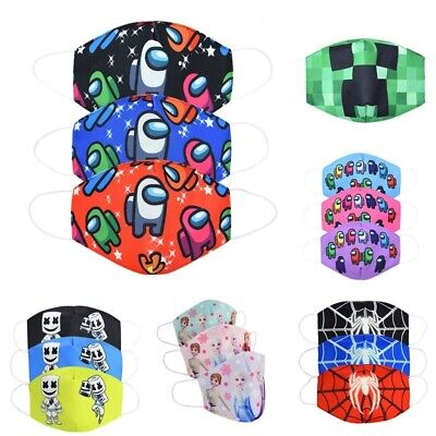 AU15.29 • Buy Kid Boy Girl Minecraft Cotton Mouth Face Mask Respirator Resuable Washable Gifts