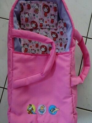 £15 • Buy Baby Born Dolls Pink Carry Cot With Cover And Pillow Hello Kitty Design Handmade