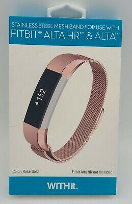AU24.02 • Buy WITHit - Stainless Steel Mesh Band For Fitbit Alta And Alta HR - Rose Gold