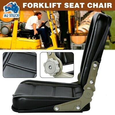 AU56.99 • Buy AU Forklift Seat Chair Adjustable Leather Bobcat Tractor Excavator Machinery