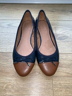 £17 • Buy Next Ballet Pumps (Women's Size 5, Navy And Tan)