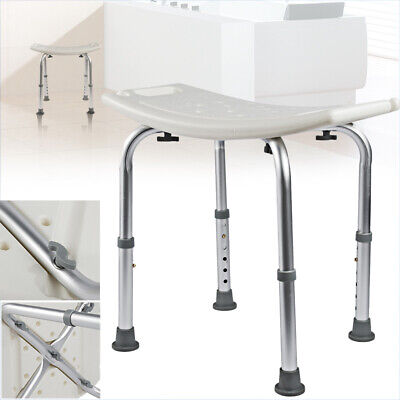 £25.99 • Buy Adjustable Shower Seat Stool Bath Chair Elderly Pregnant Mobility Disability Aid