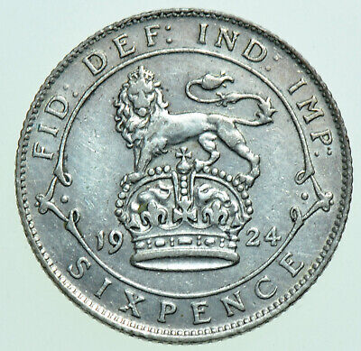 £4 • Buy 1924 GEORGE V SIXPENCE, BRITISH SILVER COIN AEF