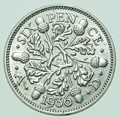£4 • Buy 1936 GEORGE V SIXPENCE, BRITISH SILVER COIN ABU