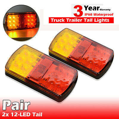 AU25.99 • Buy Pair Submersible/Waterproof 26 LED Stop Tail Lights Kit Boat Truck Trailer Light