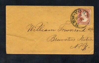 £1.60 • Buy USA. COVER. 1850s 3c RED 'WASHINGTON' IMPERF STAMP. 'NEW YORK' DATE STAMP.