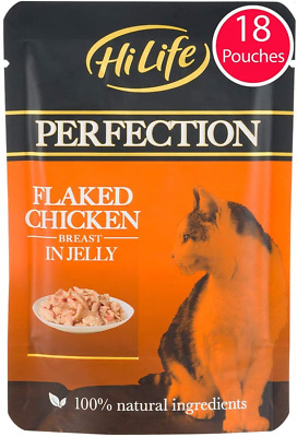 £16.10 • Buy HiLife PERFECTION - Wet Cat Food - Flaked Chicken Breast In Jelly, Natural Grain