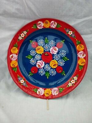 £18 • Buy Red Blue Roses And Castles Hand Painted Enamel Dish Barge Ware #01