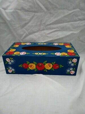 £15 • Buy Blue Roses And Castles Hand Painted Tissue Box Barge Ware #01