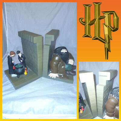 £16.99 • Buy HARRY POTTER - Decorative Official WB Harry Ron Hagrid Bookends 2001 *No Clock*