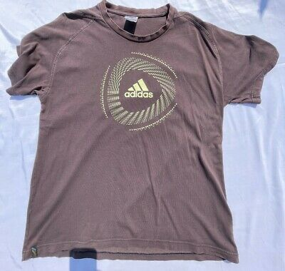 £17.99 • Buy Vintage Adidas Brown 2010 South Africa FIFA World Cup T-Shirt Football