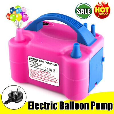 £17.59 • Buy Portable Electric Balloon Pump Party Inflator Air Blower Dual Nozzles UK Plug