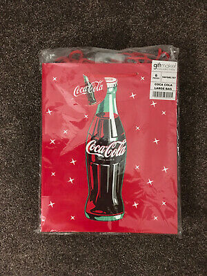 £24.99 • Buy Coke Coca Cola Gift Bags Bundle Large Set Of 6 With Tags