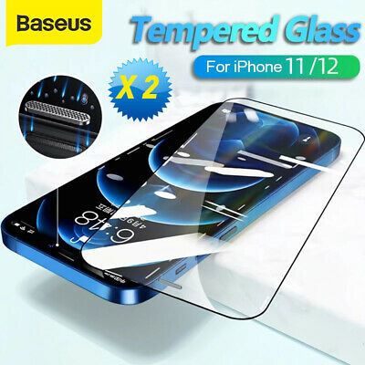 AU7.99 • Buy 2X BASEUS Tempered Glass Screen Full Cover Protector For IPhone 13 12 11 Pro Max