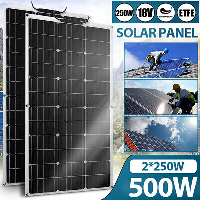 £72.85 • Buy 250W Solar Panel Kit ETFE Solar Cell DIY Connector Charger High Efficiency