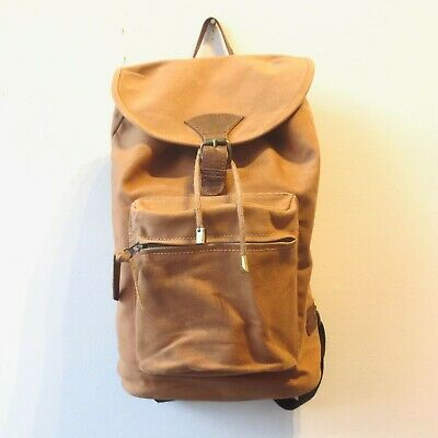 £54.56 • Buy United By Blue Organic Cotton Carhart Brown Drawstring Bucket Backpack 0201EB