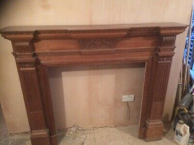 £475 • Buy Solid Hardwood Antique Mantelpiece Fire Surround In Good Condition