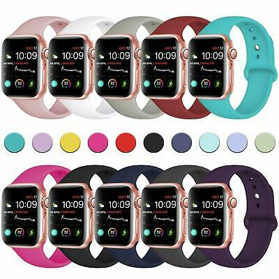 AU5.79 • Buy For Apple Watch IWatch Sports Band Series 7 6 5 4 3 2 1 SE 44mm 42 40 38mm Strap
