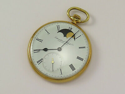 £6076.05 • Buy Vintage IWC 18k Gold Moon-phase Pocket Watch Ref 5250 Cal 9521 ** Rare **