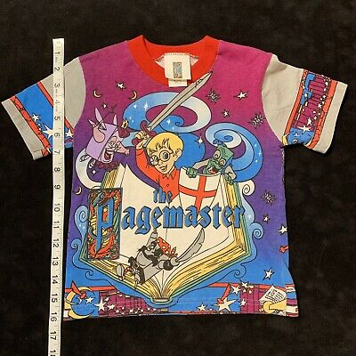 £144.76 • Buy Vintage The Pagemaster T Shirt Macaulay Culkin Movie Promo All Over Print Youth
