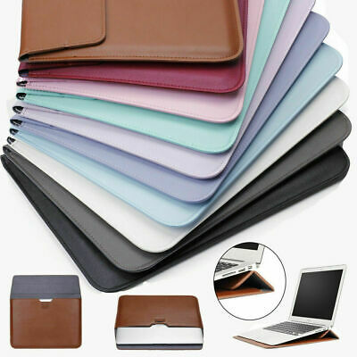 AU22.29 • Buy Leather Laptop Sleeve Bag Pouch Case Cover For MacBook Air 11 13 Pro 15 Retina