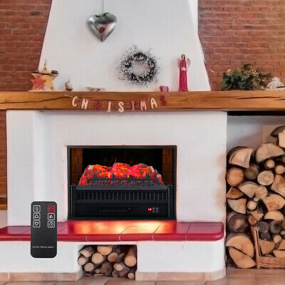 £119.95 • Buy 23Inch Mini Electric Fireplace Insert LED Fire Wood Ember Bed Heater Stove 1800W
