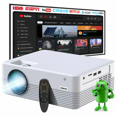 AU199.09 • Buy JEEMAK Mini Video Projector Android WiFi Bluetooth Portable 6000Lux Home Theater