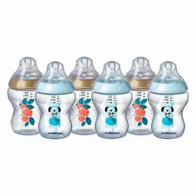 £18.99 • Buy Tommee Tippee Closer To Nature Baby Bottles 260ml Pack Of 6 Decorated Dog Design