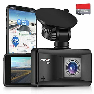 AU193.51 • Buy Iiwey Dash Cam 4K Front With WiFi GPS And Speed Dash Camera For Cars Ultra HD...