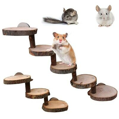 £5 • Buy Climbing Stair Small Animals Ladder Hamster Toy Wooden Bridge Pet Cage Toys